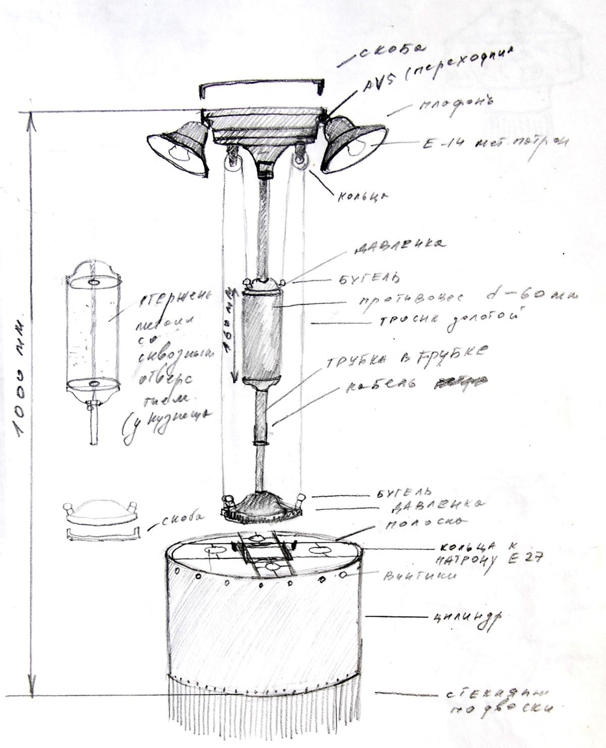 Металлические светильники производство под заказ